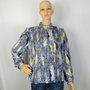 NICOLA Vintage size 8 Starry Night Looking Blouse
